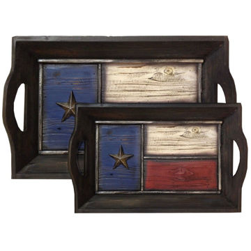 Picture of Texas Themed Flag Tray