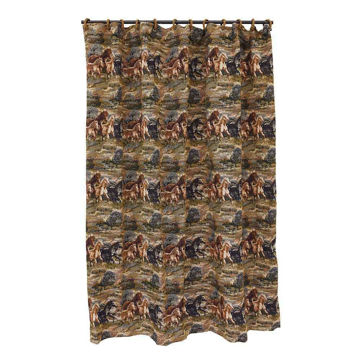 Picture of Running Horse Shower Curtain