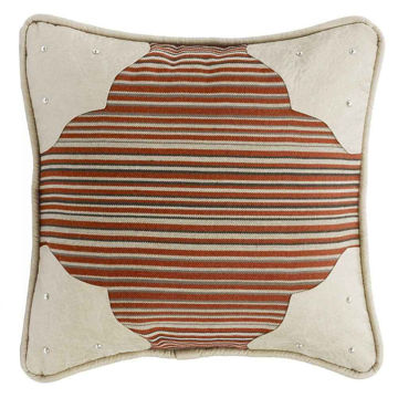 Picture of Silverado Faux Leather Corner Scallop Pillow
