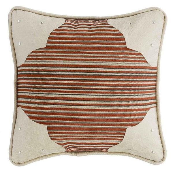 Picture of Silverado Faux Leather Corner Scallop Pillow