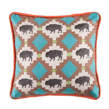Picture of Serape Buffalo Design Pillow