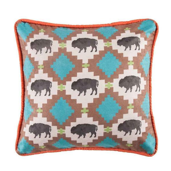 Picture of Serape Buffalo Design Pillow