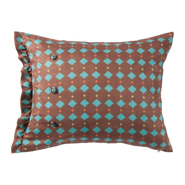 Picture of Serape Diamond Suede Pillow