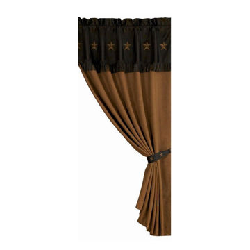 Picture of Laredo Embroidered Star Curtain - Chocolate