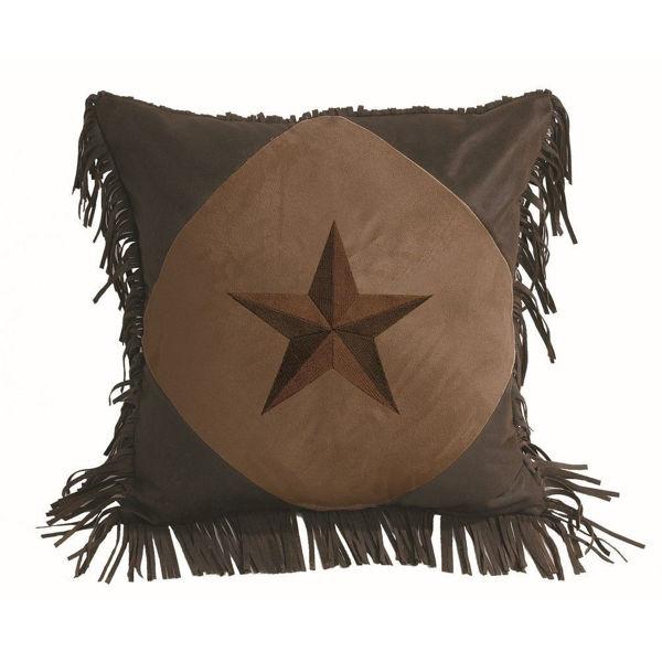 Picture of Laredo Diamond Shape Star Pillow - Chocolate