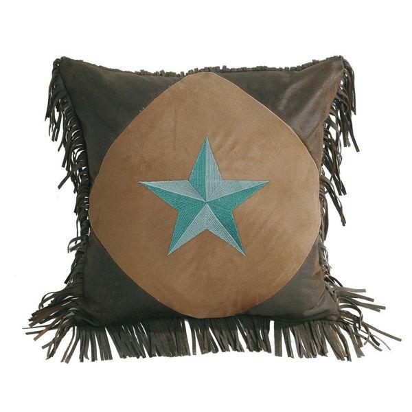 Picture of Laredo Diamond Shape Star Pillow - Turquoise