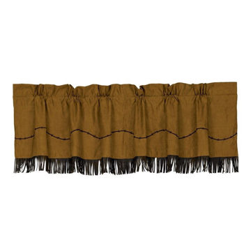 Picture of Rustic Barbwire Valance with Fringe