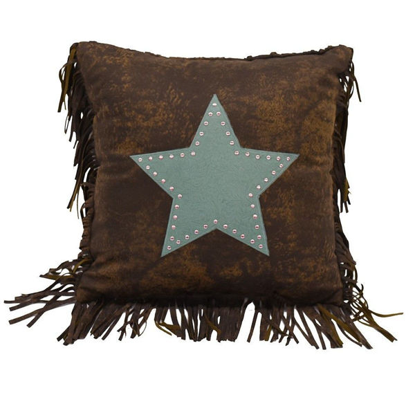 Picture of Cheyenne Star Pillow - Turquoise