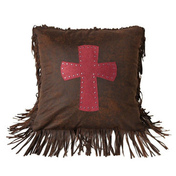 Picture of Cheyenne Cross Pillow - Red