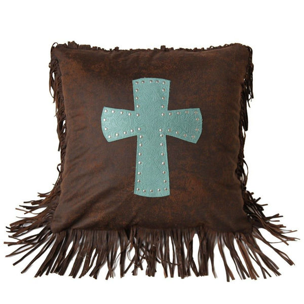 Picture of Cheyenne Cross Pillow - Turquoise