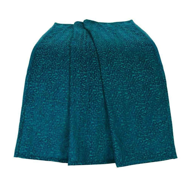 Picture of Alamosa Teal Chenille Leapord Throw
