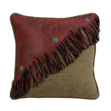 Picture of San Angelo Diagonal Red Faux Leather Design