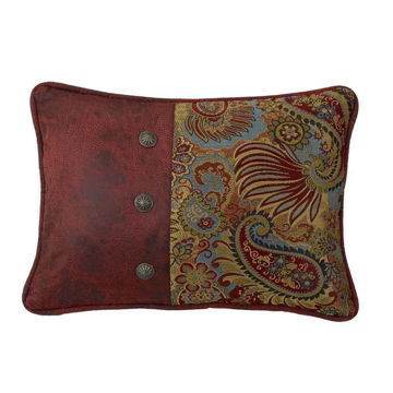 Picture of San Angelo Oblong Paisley Print Pillow