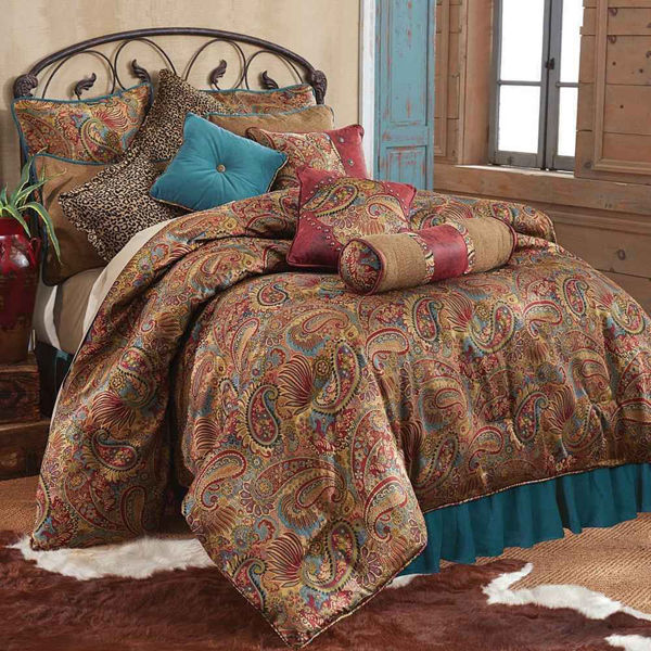 Picture of San Angelo 4-Piece Comforter Set - Turquoise