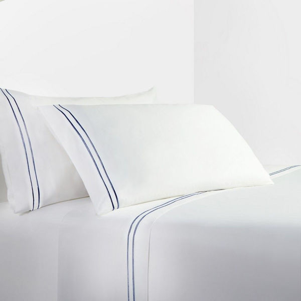 Picture of Navy Stripes Sheet Set