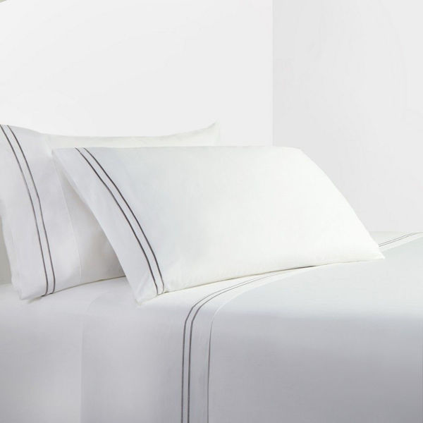 Picture of Gray Stripes Sheet Set