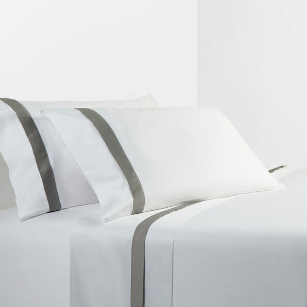Picture of White/Gray Sheet Set - Gray