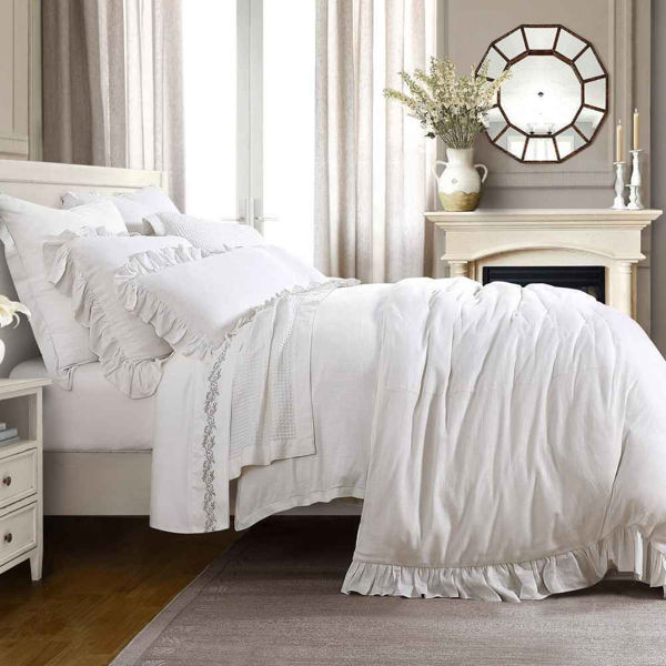 Picture of Lily 3-Piece Washed Linen Duvet Set