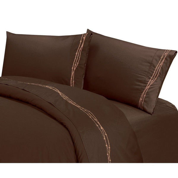 Picture of Barbwire Sheet Set - Brown