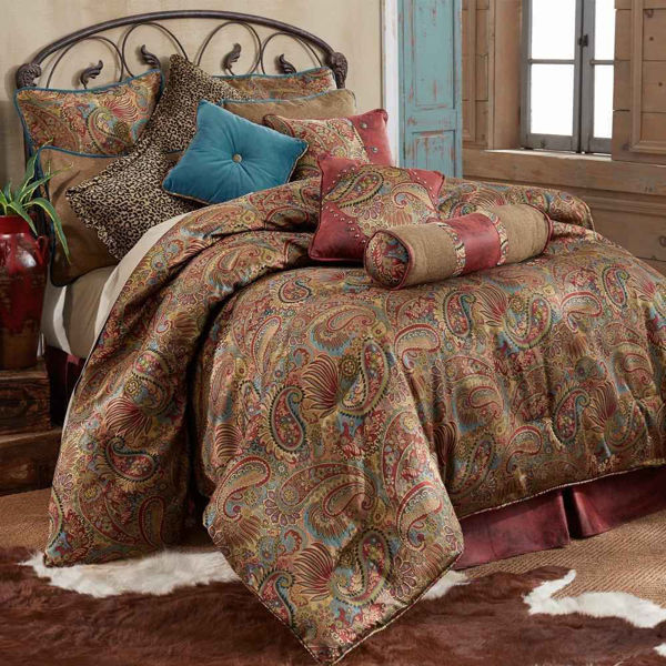 Picture of San Angelo 4-Piece Comforter Set - Red