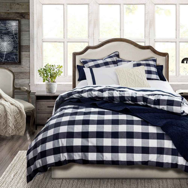 Picture of Camille  3-Piece Comforter Set - Navy