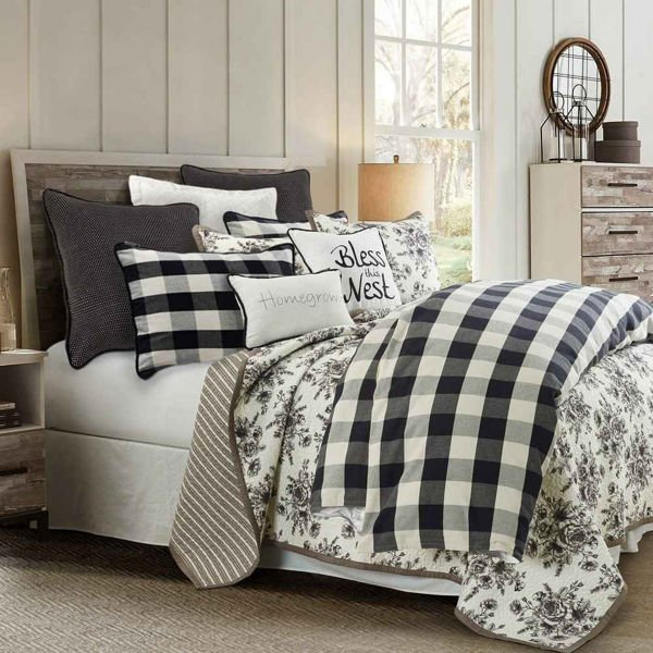 Picture of Camille  3-Piece Comforter Set - Black