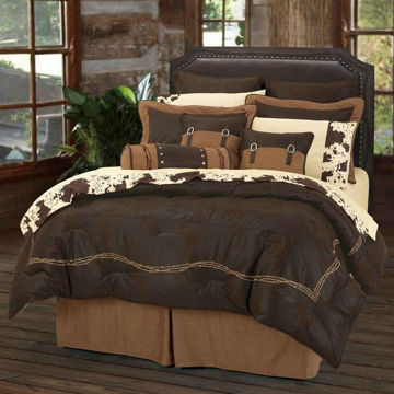 Picture of Barbwire 7-Piece Comforter Set - Chocolate