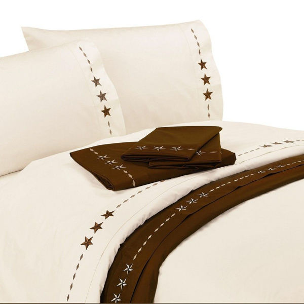 Picture of Embroidered Star Sheet Set - Cream