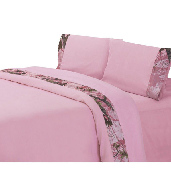 Picture of Pink Camo 3-Piece Sheet Set