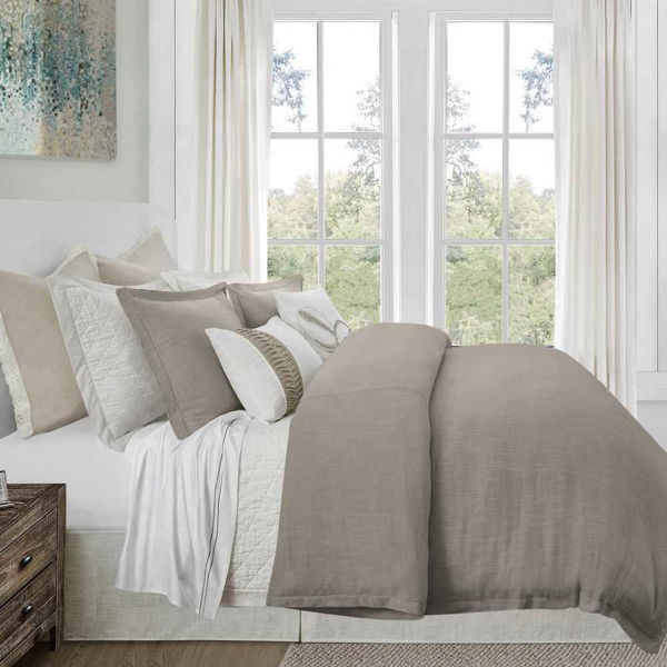 Picture of Hera 3-Piece Duvet Set - Taupe
