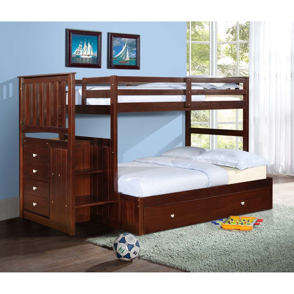 Picture of Cappucino Stair Bunk Bed