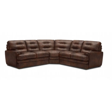 Salerno 3-Piece 100% Leather Sectional