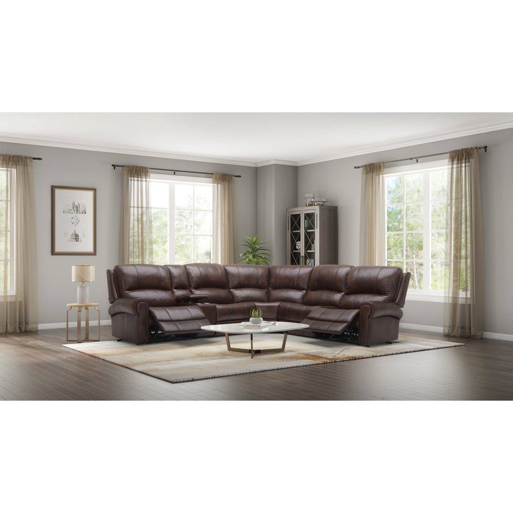 Picture of Picacho 6-Piece Leather Power Sectional