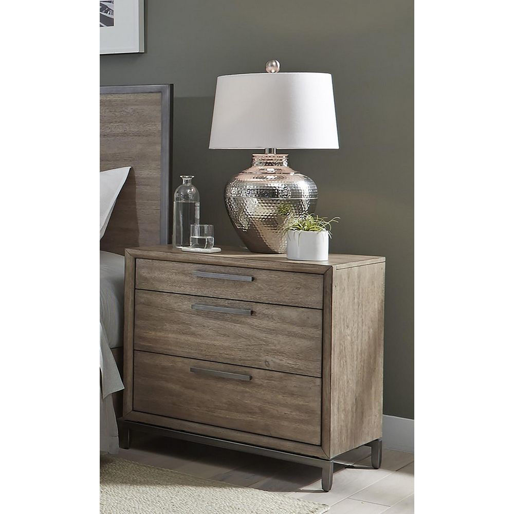 Picture of Trellis 3-Drawer Nightstand