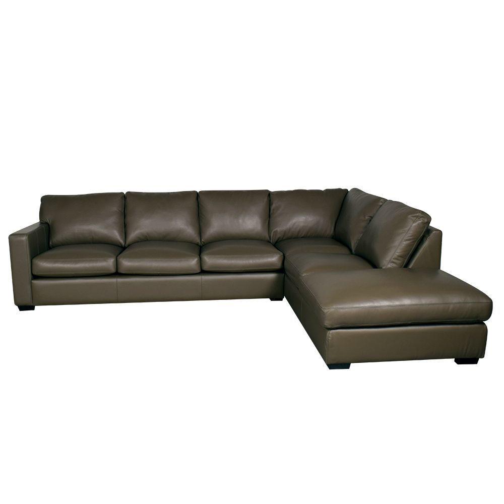 Colebrook 2-Piece Leather Sectional - Alt