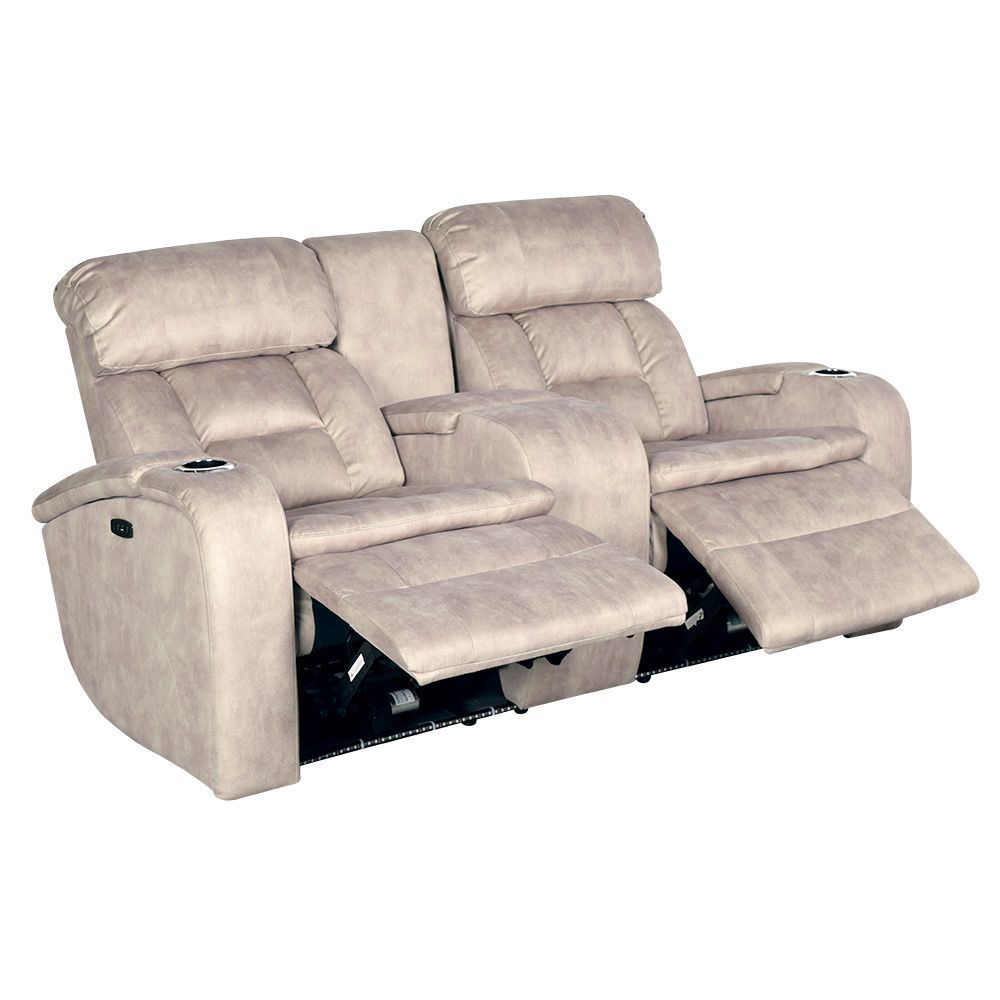 Aden Power Reclining Loveseat with Console - Open