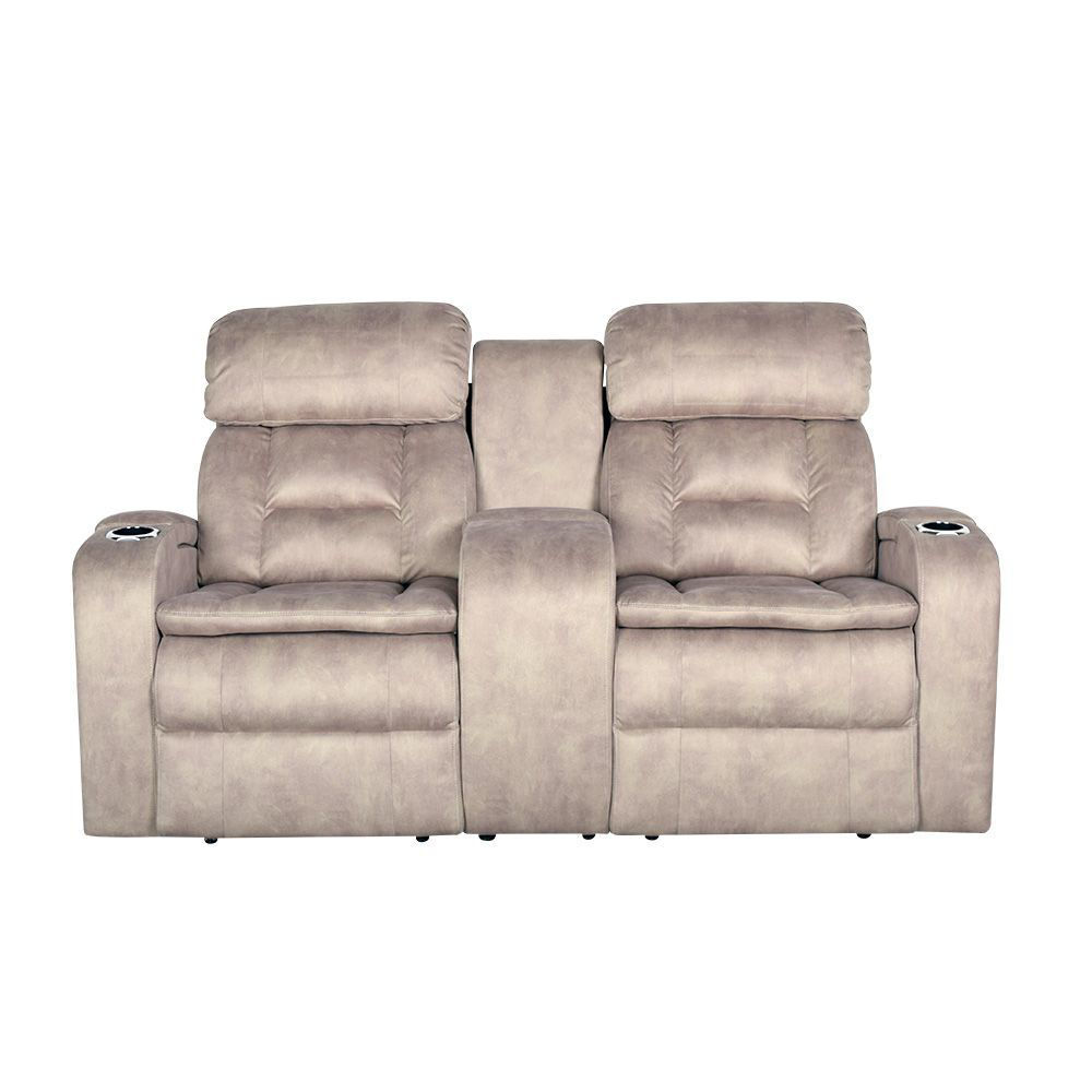 Aden Power Reclining Loveseat with Console - Front