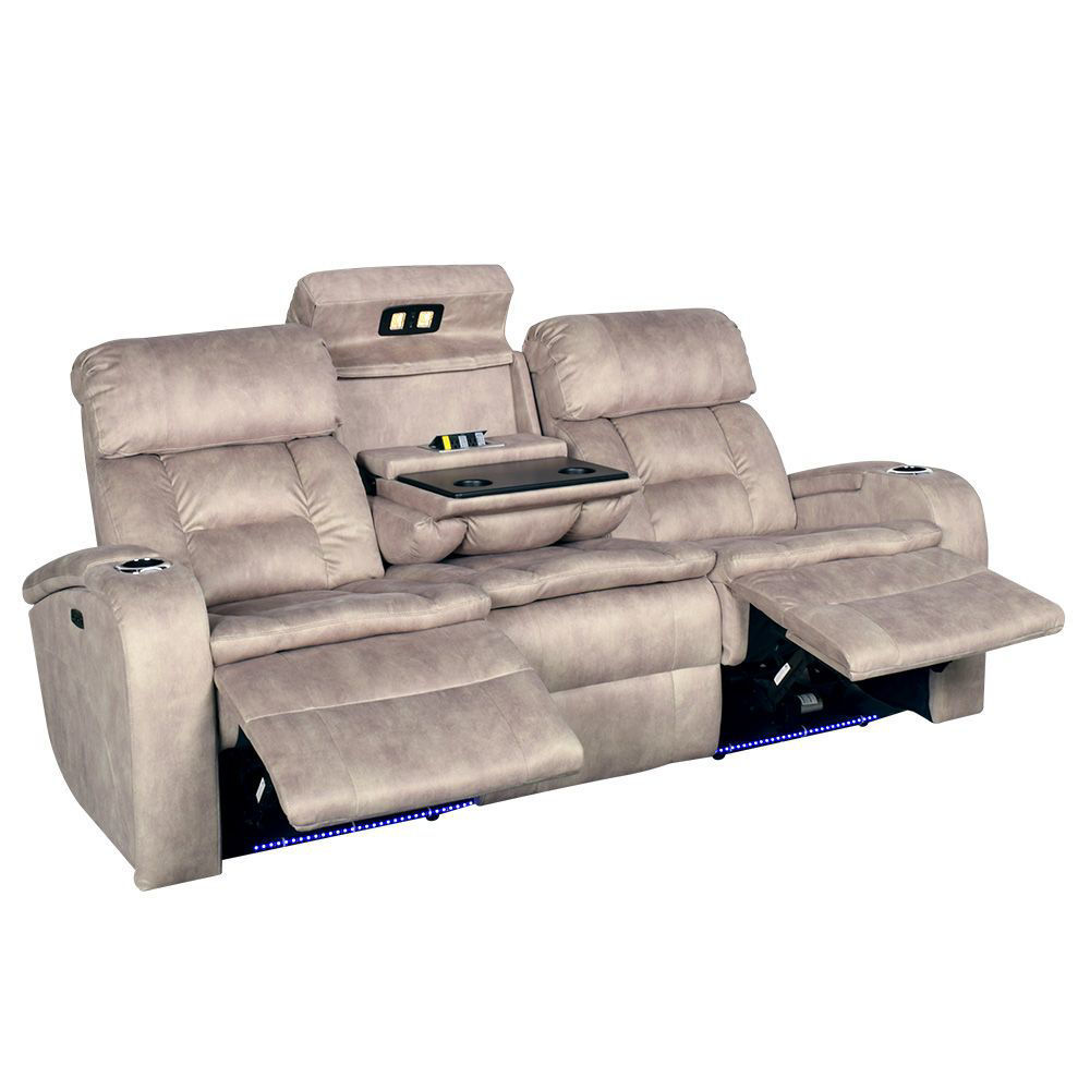 Aden Power Reclining Sofa with Power Headrest - Open Console