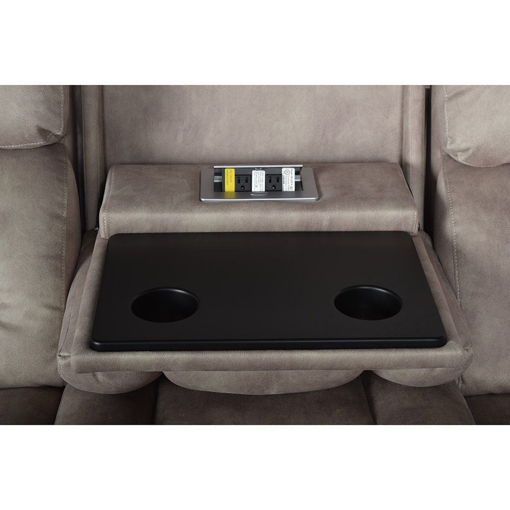 Aden Power Reclining Sofa with Power Headrest - Console