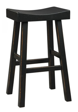 Glosco Black Bar Stool