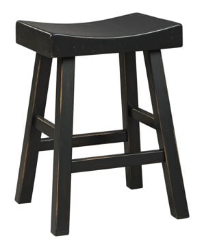 Glosco Black Counter Stool