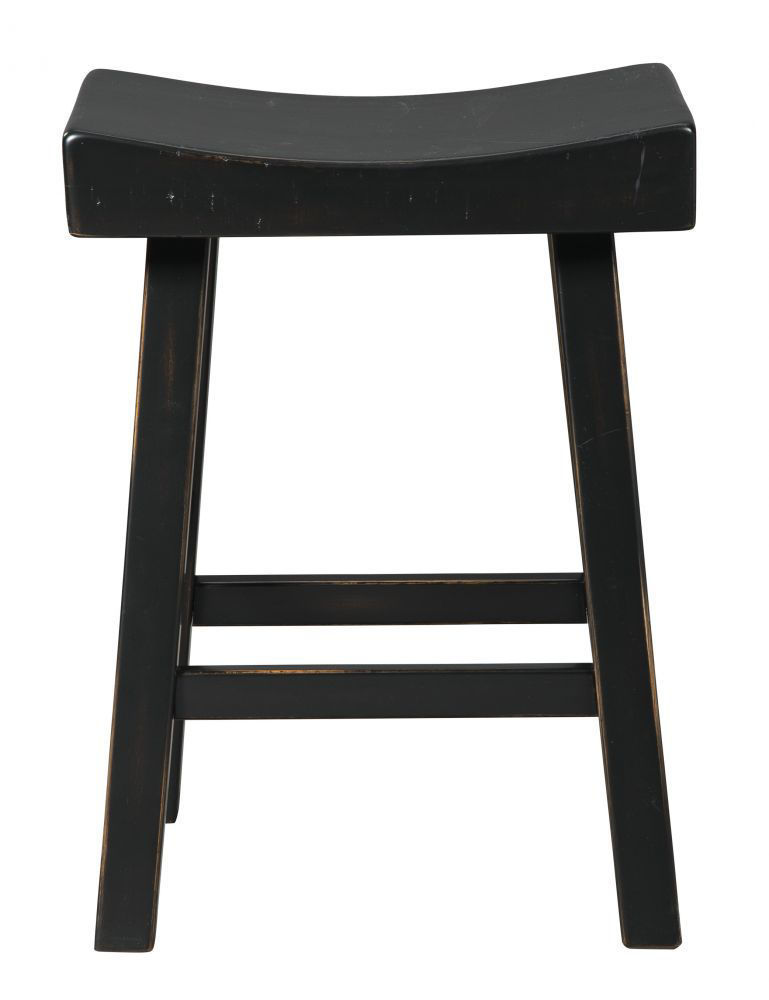 Glosco Black Counter Stool - Front