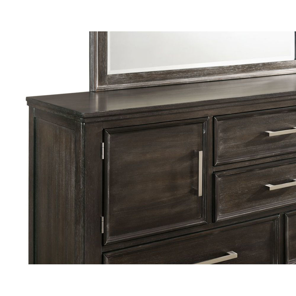 Andover Dresser - Nutmeg - Front Detail