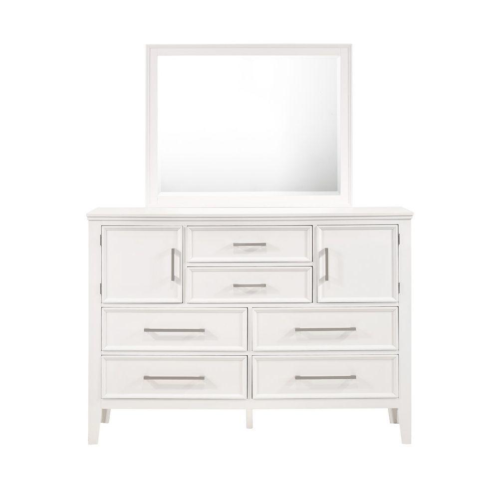 Andover Dresser - White - Front