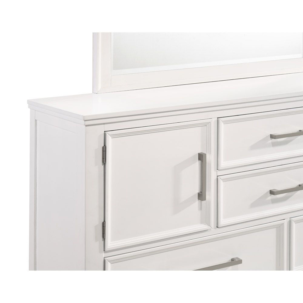 Andover Dresser - White - Front Detail