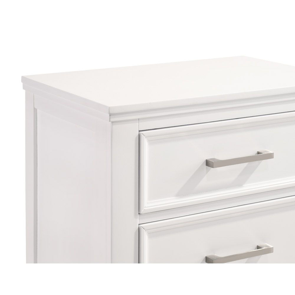 Andover Nightstand - White - Drawer Detail