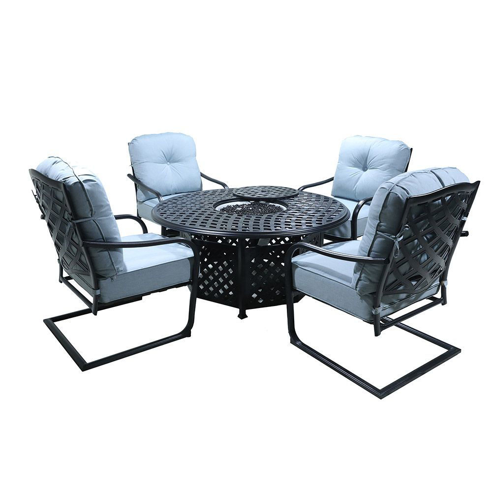 Halsey 5-Piece Fire Pit Group