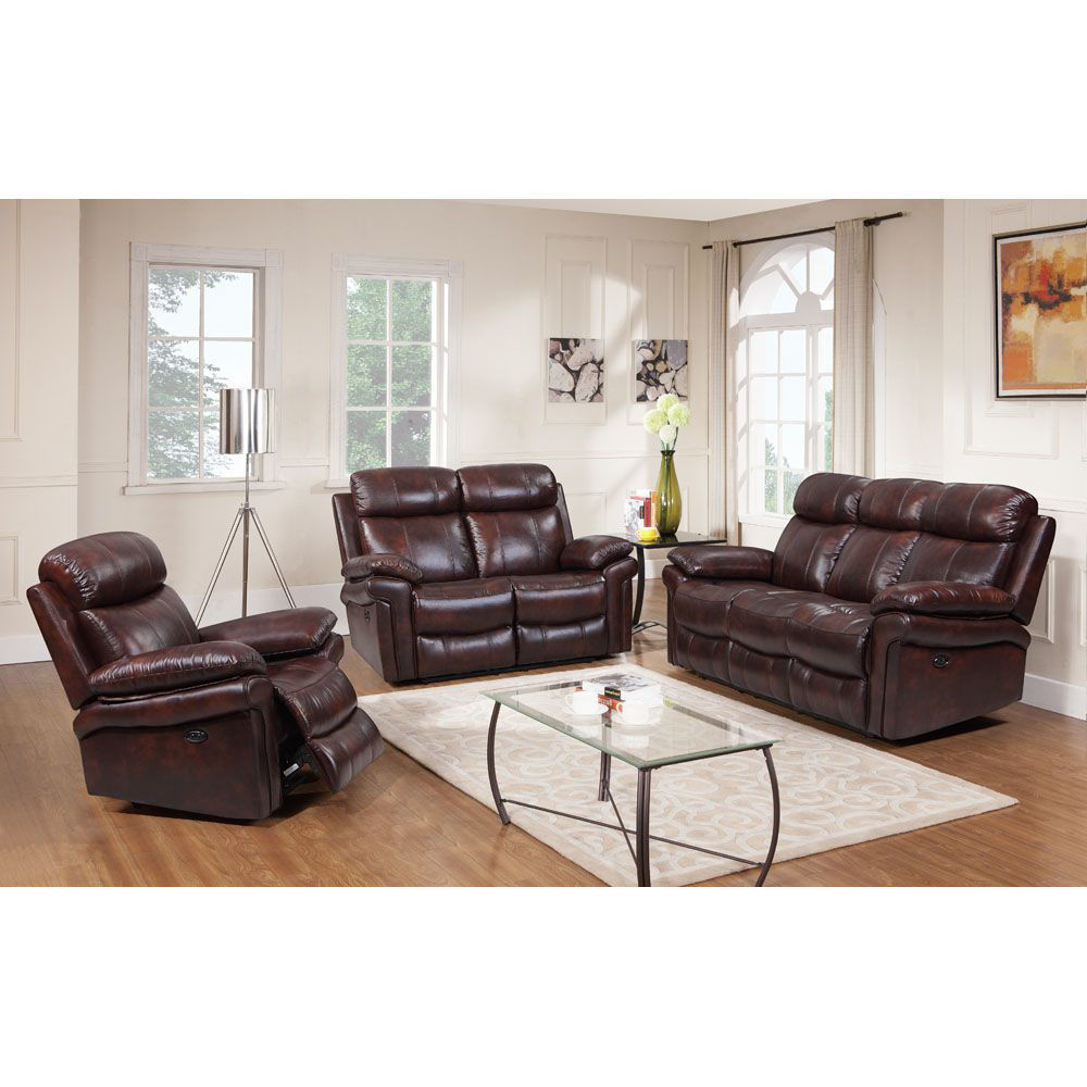 Joplin Leather Power Reclining Sofa - All Items Sold Separately