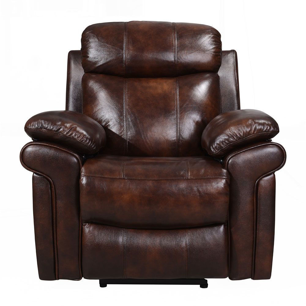 Joplin Leather Power Recliner - Front