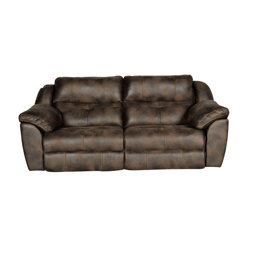 Bear Power Reclining Sofa In Dusty - Front